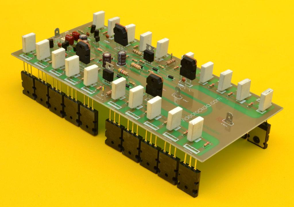 ensamble tarjeta amplificador
