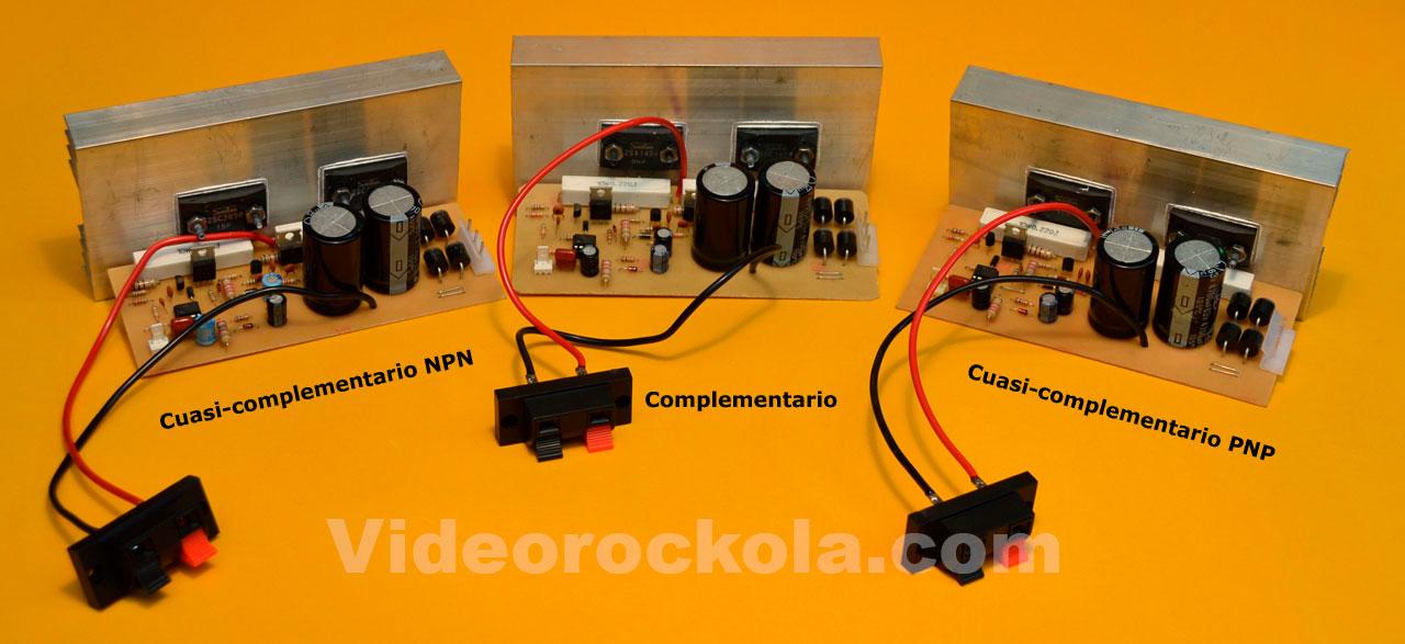 tres amplificadores