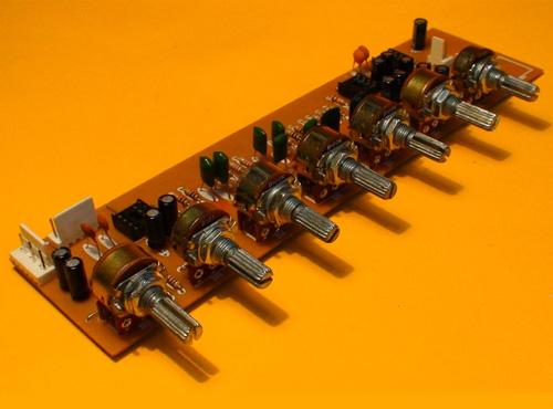 Preamplificador estéreo con Entrada de Micrófono Linea EQ
