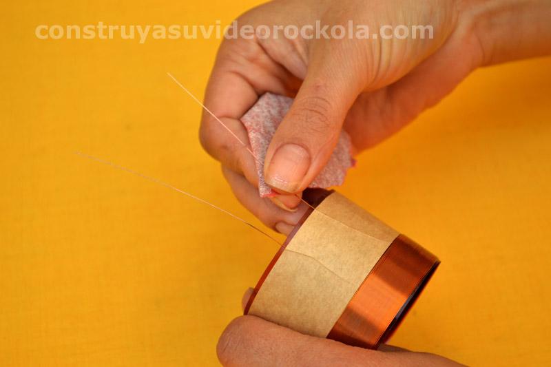 lijar alambres bobina