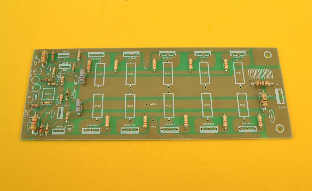 Circuito Impreso De Amplificador De 3000w : Amplificador estereo híbrido de watts