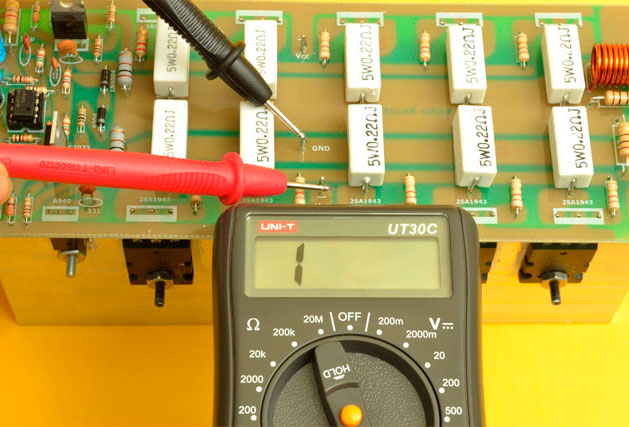 medición amplificador