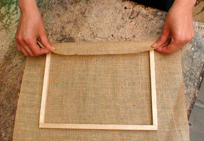 tapizado con yute