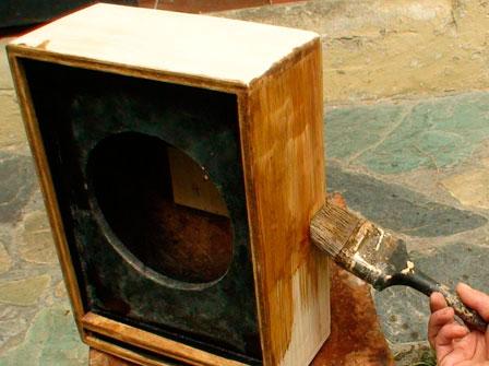pintar caja acustica