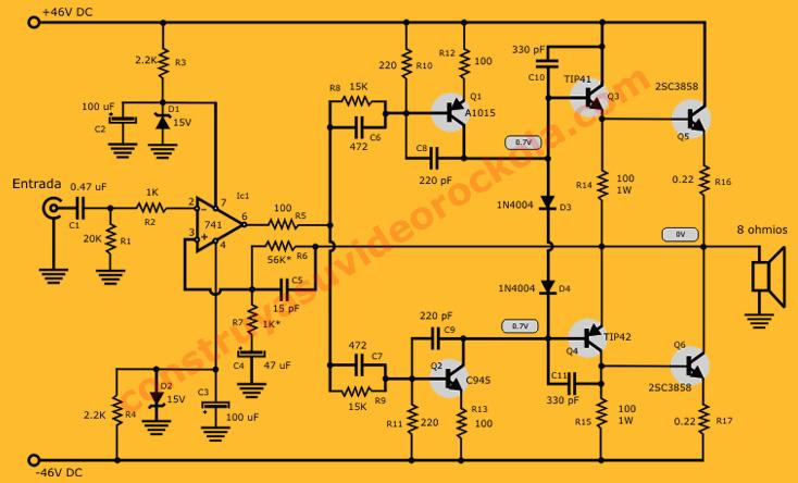 amplificador NPN