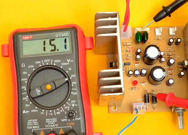 medir diodos voltaje