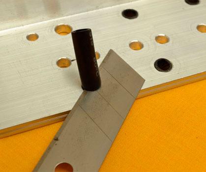 cortar sobrante tubo