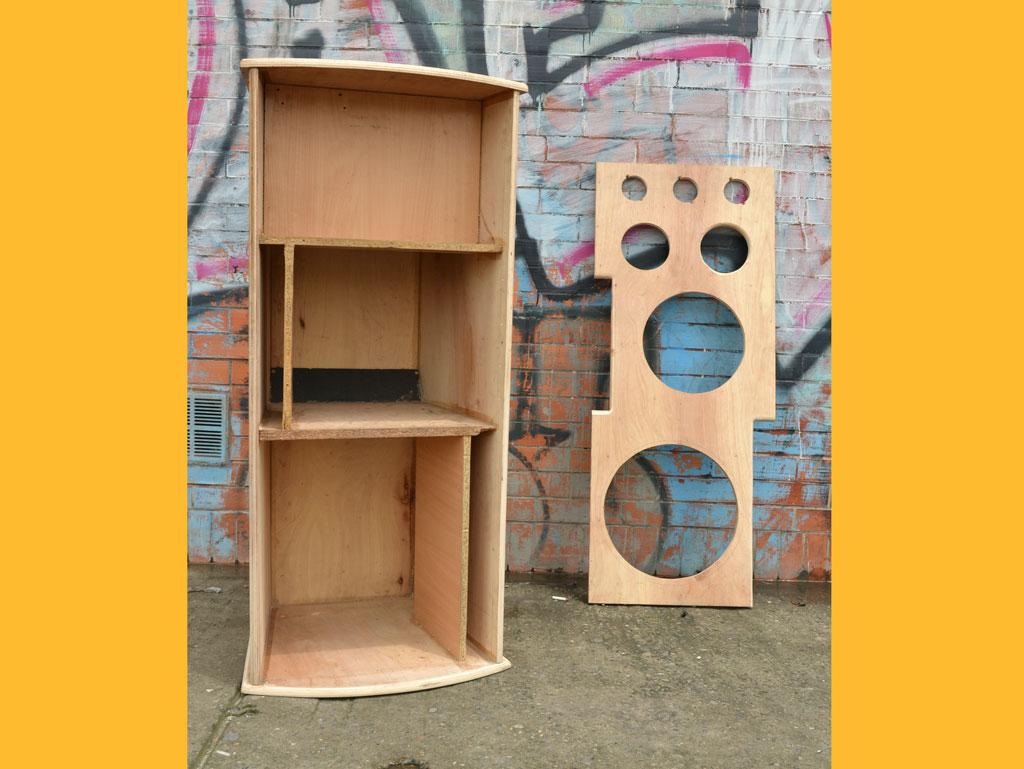 cajas de madera cabinas