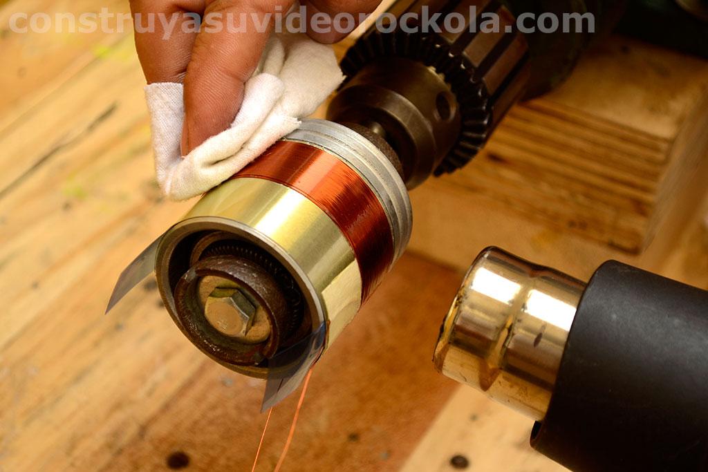 secar con calor resina