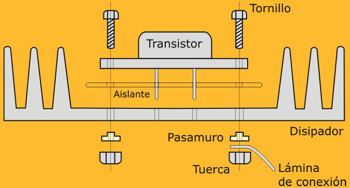 montaje transistor TO3