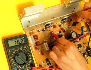 medición de voltaje DC