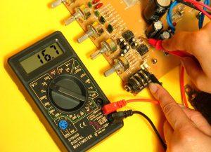 medir voltaje preamplificador