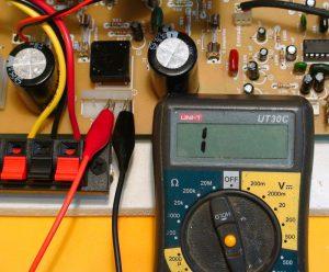 medición entrada AC