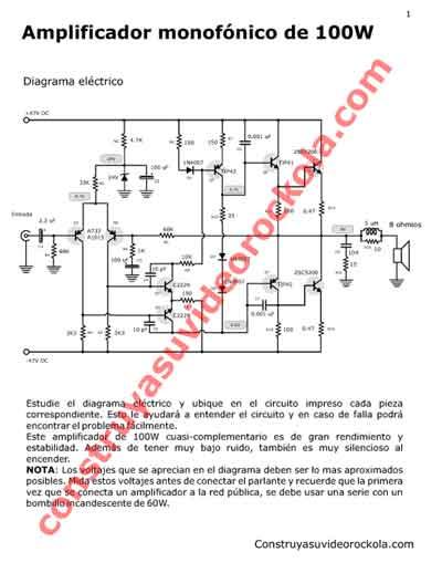 Circuito Impreso De Amplificador De 3000w : Descargue amplificador mono de watts versión