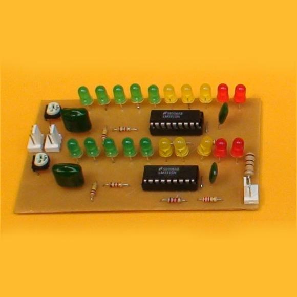 Construcción de un Vúmetro estéreo con LEDs