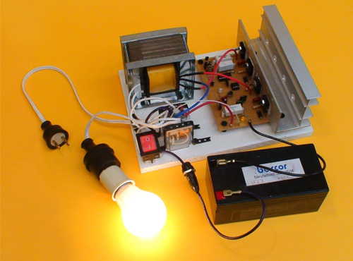 Ensamble un Inversor de Voltaje  DC/AC y Cargador de Batería Automático