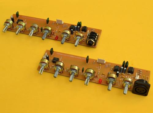 Preamplificador Estéreo con Entrada de Micrófono Balanceada y Tonos