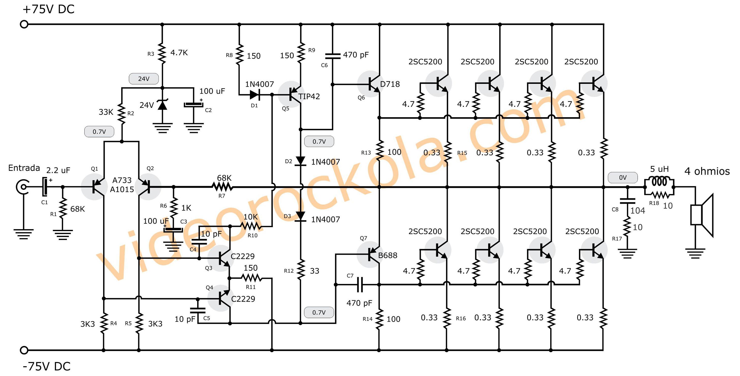 diagrama amplificador