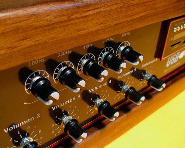 controles volumen tonos
