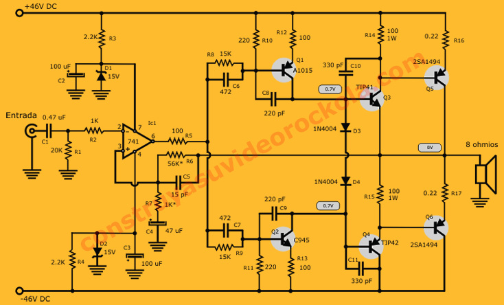 amplificador PNP